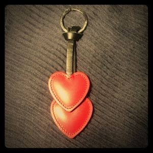 Accessories - ❤️ Lovers red hearts leather keychain ❤️